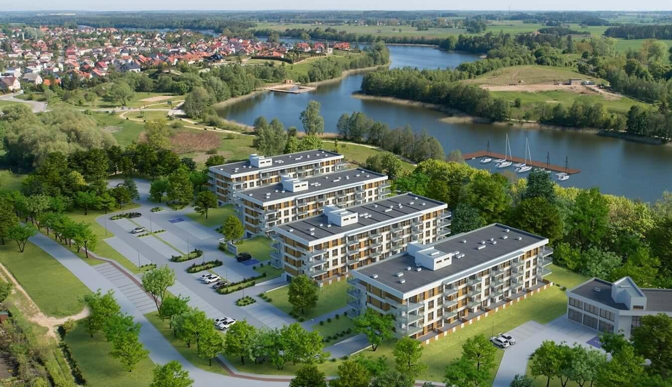 apartamenty olecko mazury widok na jezioro