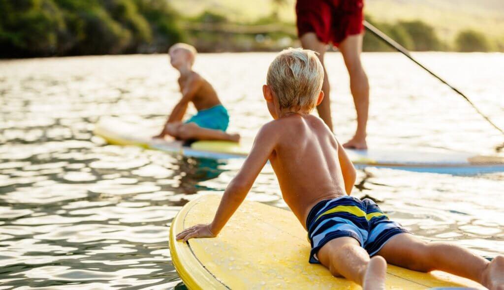 woda dzieci jezioro przystan olecko